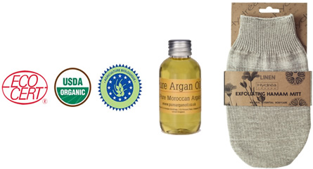 Argan Oil with Hammam Mitt