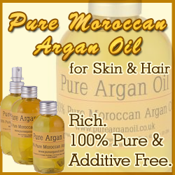 Pure Argan Oil for Skin & Hair. Rich. 100% Pure & Additive Free.